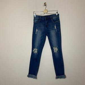 STS Blue Emma Ankle Frayed Hem Skinny Jeans